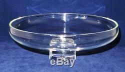 Steuben Crystal, Pedestal Low Bowl Compote Serving Plate, 11