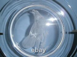 Steuben Engraved Glass Plate Ornithological Bald Eagle Audubon Series Vintage