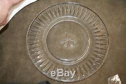 Stuart CLARIDGE CLEAR 8-1/2 Luncheon plates circa 1958-1977 (set of 4)