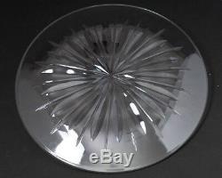 Stuart of England Crystal Hampshire Large 14.75 Torte Platter Plate Sunburst