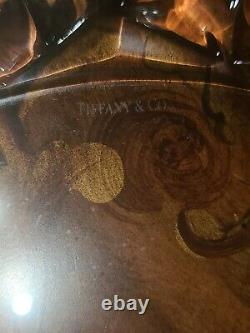 Stunning 10 Tiffany & Co. Crystal Signed 6 Dinner Plates Rock Cut Pattern