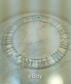 TIFFANY & CO Clear Crystal Atlas Roman Numerals Round Plate 12 7/8 Large New