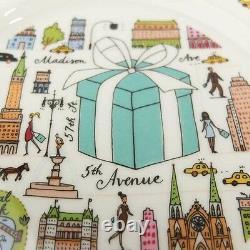 Tiffany & Co. 5th Avenue Dessert Plate 2pcs Tableware Dish Japan F/S Mint