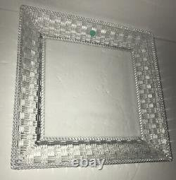 Tiffany & Co Crystal Dish Square Basket Weave 12 By 12 New Never Used