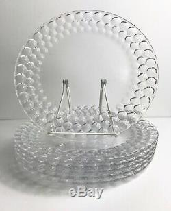 Tiffany & Co Honeycomb Crystal Large Dinner Plates/Platters Dishes-Set of Six
