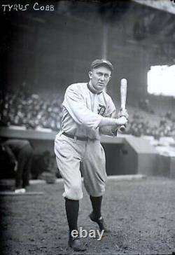 Ty Cobb 1914 Detroit Tigers Original Glass Plate Photo Negative Crystal Clear