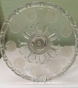 U S Coin Glass 1892 Pedestal Cake Stand