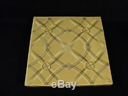 VINTAGE LALIQUE CRYSTAL ART GLASS PLATE with CHERUB DESIGN in ORIGINAL BOX