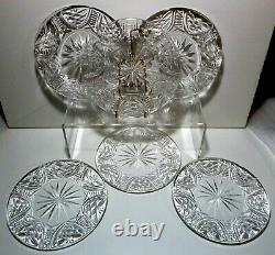 VINTAGE Waterford Crystal CLARE (1985-2017) 6 Luncheon Plates 8 Made Ireland