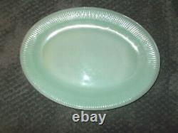 VTG Lot Of 6 FireKing 12 Jadeite Oval Platters Plates Restaurant Jane Ray Clean