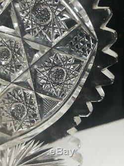 Very Fine American Brilliant Period Cut Glass Plate Pinwheel Star