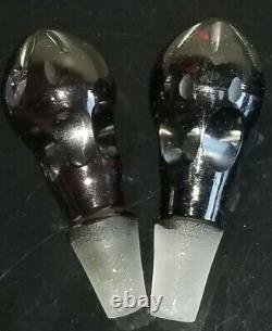 Victorian Castor Set Silver Plate 5 Ruby Red Cut To Clear Glass Cruet Set