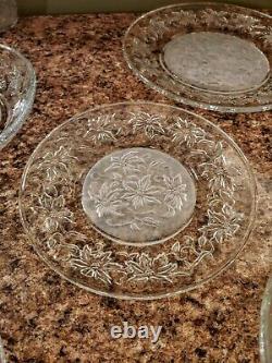 Vintage 9pc LOT Princess House Fantasia Pasta bowls Dinner & Salad Plates + Vase