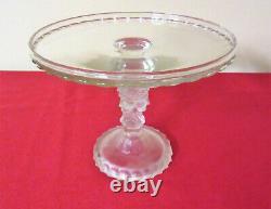 Vintage, EAPG, Three Faces 9 Pedestal Cake Plate, Duncan Miller, Gorgeous