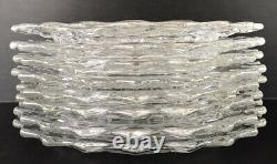 Vintage Fostoria American Dinner Plates 9 1/2 Set Of 8 Clear Elegant Glass