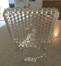 Vintage Fostoria Crystal American 10 Square Cake Stand Plate Rum Well Mint