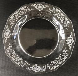 Vintage Fostoria Navarre Salad Plates 7 1/4 Set Of 12 Etched Elegant Glass