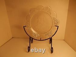 Vintage Gillinder American Pattern Glass Plate Jacobus JOHN LOGAN 1884 RAN 4 VP