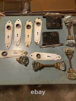 Vintage Glass Door Knobs, Plates, And Locks