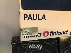 Vintage Iittala Paula 8 Punch Cups 1 Ladle Box Gold Plated Handle Jorma Vennola