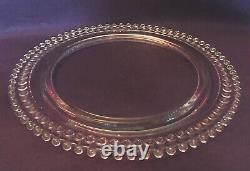 Vintage Imperial Glass CANDLEWICK BIRTHDAY CAKE PLATE Candle Holes