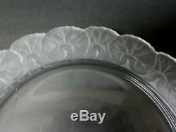 Vintage LALIQUE Crystal HONFLEUR 10.5 Dinner or Serving Plate