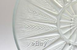 Vintage Lalique 1930-50 Epis Crystal Plate No 4 R Lalique