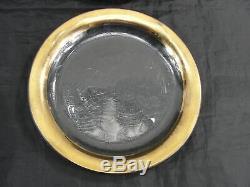 Vintage Lot Of 4 Signed Annieglass Roman Antique 24kt Gold Dessert Plates 7