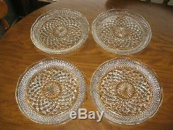 Vintage Lot of 10 WEXFORD GLASS DINNER PLATES Clear 9 1/2 SCALLOPED EDGES