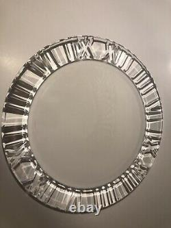 Vintage Tiffany & Co Crystal Atlas Roman Numerals Round Platter 13, USED