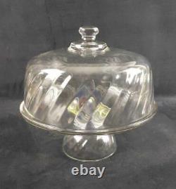 Vintage Toscany Optique Pedestal Cake Plate W Dome