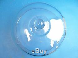 Vintage Used Clear Glass Heavy Cake Dish Cover Carrier Saver Plate Lid Top Old