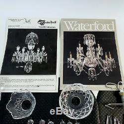 Vintage WATERFORD Chandelier A5 Replacement Parts LOT Button Drops, Knob, Plate