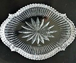 Vintage Waterford Crystal 8 Accent Tray Dish Plate withOriginal Box Ireland