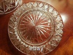 Vtg Cut Crystal Etched Domed Dome Cake Cheese Plate Covered HUGE & HEAVY AMAZING
