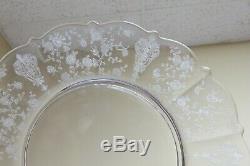 Vtg Elegant Cambridge Glass Rose Point Set of 4 Dinner Plates 10.25 Floral #1