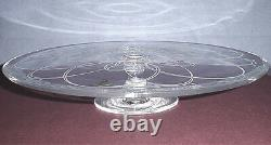 Waterford Ballet Icing Large Footed Cake Plate Etched Crystal 12 #151272 New