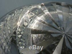 Waterford Crystal Alana Cut Glass Bowl/plate Signed 10 Across