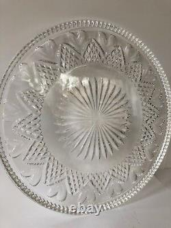 Waterford Crystal Heart Cake Plate Platter Wedding Heirloom Collection 11 7/8