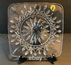Waterford Crystal LISMORE 2 Square Accent Plates 8 In Box Excellent