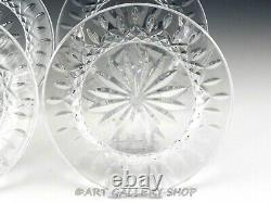 Waterford Crystal LISMORE 8 SALAD DESSERT ACCENT PLATES Set of 4 Mint