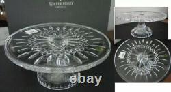 Waterford Crystal LISMORE Footed Pedestal CAKE PLATE Stand NEW / BOX