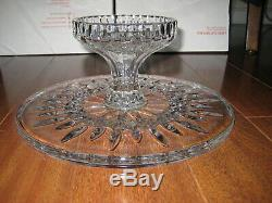 Waterford Crystal Lismore 11 x 4 3/4 Footed Pedestal Cake Plate Stand