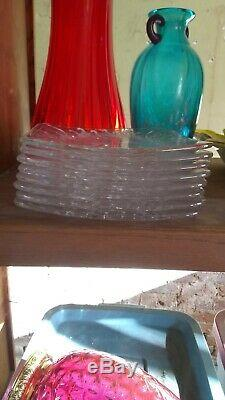 Waterford Crystal Lismore 8 Square Plates Set of 2 Made in Ireland