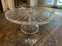 Waterford Crystal Lismore Footed Cake Plate EUC