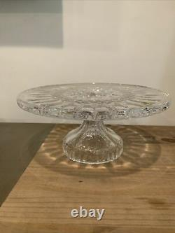 Waterford Crystal Lismore Footed Serving Cake Plate In Box New