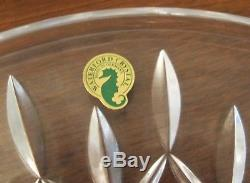 Waterford Crystal Lismore Large Sandwich Cake Plate 12 1/2 Across Flawless