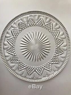 Waterford Crystal Wedding Heirloom Collection Heart Cake Plate Platter 11 7/8