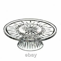 Waterford Lismore 10 inch Footed Crystal Cake Plate