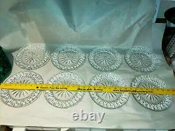 Waterford Lismore 8 Crystal Salad Plates, Set of 8, Perfect, Signed, withcase